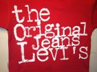Levis T-Shirt- Compton Red, 100% Authentic Levis, Brand New, Great Price !!!